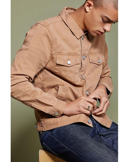 Forever 21 | Multicolor Buttoned Twill Jacket for Men | Lyst