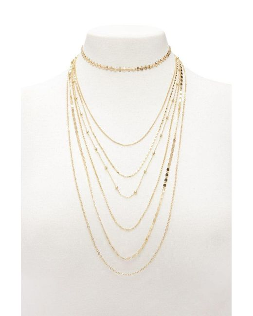 Forever 21 | Metallic Layered Necklace Set | Lyst