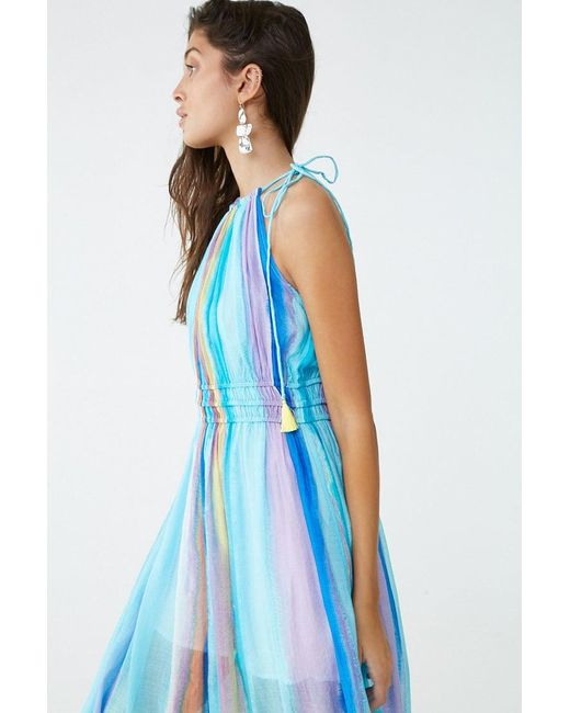 8c6bb85fe6574f ... Forever 21 - Blue Watercolor Ombre Maxi Dress - Lyst