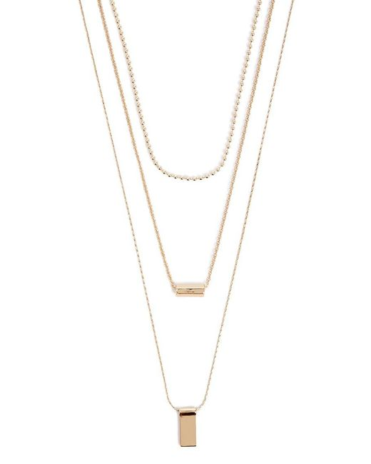 Forever 21 - Metallic Geo Pendant Chain Necklace Set - Lyst