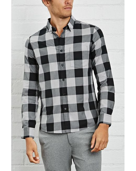 Forever 21 - Multicolor Slim-fit Plaid Shirt for Men - Lyst