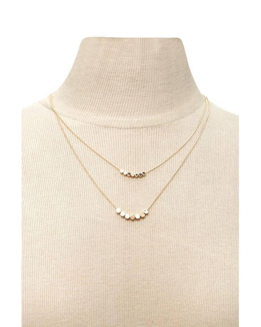 Forever 21 - Metallic Layered Charm Necklace - Lyst
