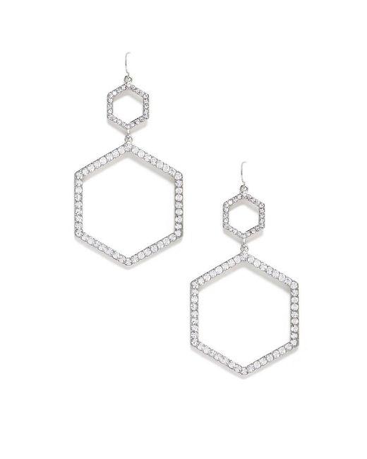 Forever 21 - Metallic Rhinestone Drop Earrings - Lyst