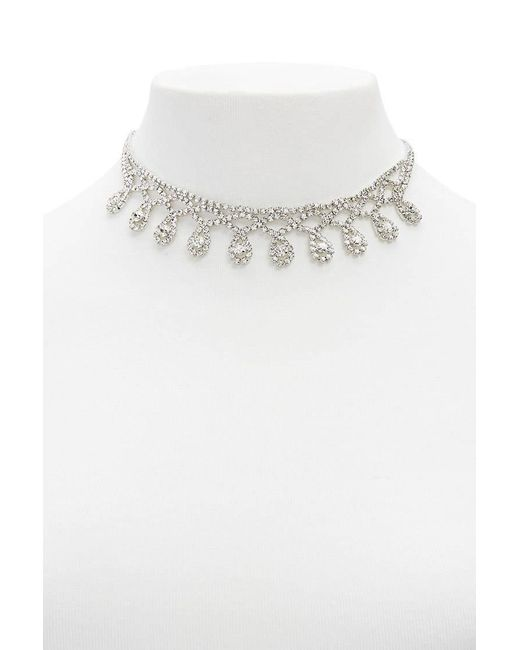 Forever 21 - Multicolor Diamante Bib Statement Necklace - Lyst