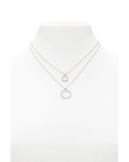 Forever 21 | Metallic Layered Pendant Necklace | Lyst