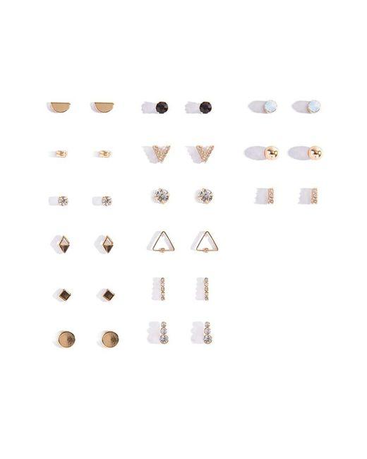 Forever 21 - Metallic Assorted Geo Stud Earring Set - Lyst