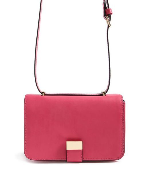 Forever 21 - Pink Faux Leather Crossbody Bag - Lyst