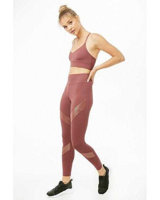 d4a26b13ee74e7 Forever 21 - Multicolor Women's Active Metallic Striped Leggings - Lyst ...