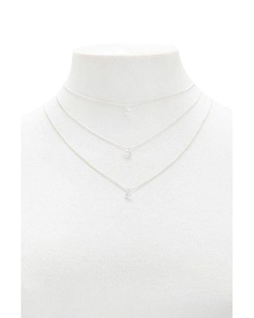 Forever 21 - Metallic Faux Stone Pendant Necklace Set - Lyst