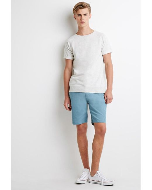 Forever 21 - Blue 's Cotton Canvas Shorts for Men - Lyst