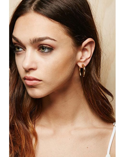 FOREVER21 - Metallic Amber Sceats Hook Ear Jackets - Lyst