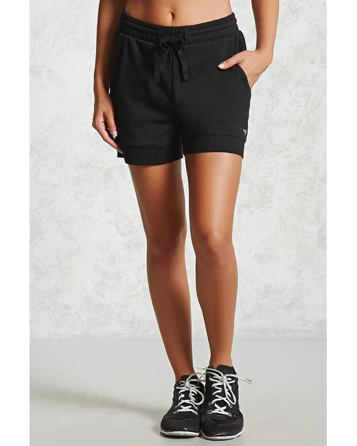 ... Forever 21 | Black Active French Terry Knit Shorts | Lyst ...