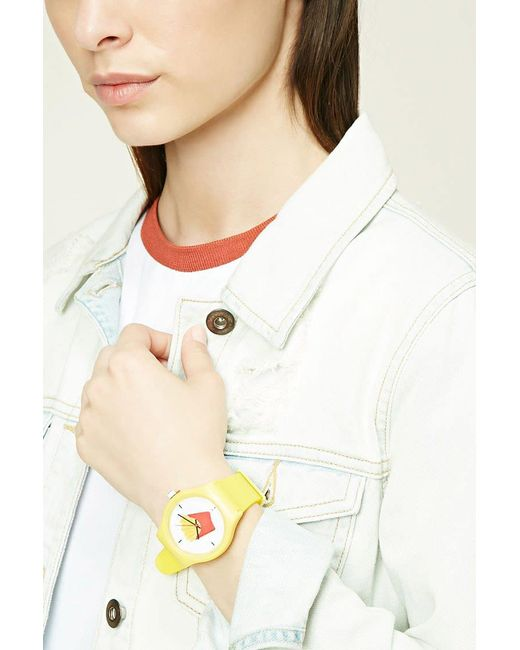 Forever 21 - Yellow Fries Graphic Analog Watch - Lyst