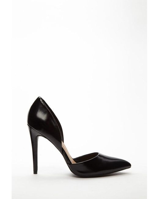 Forever 21 - Black Faux Leather Heels - Lyst