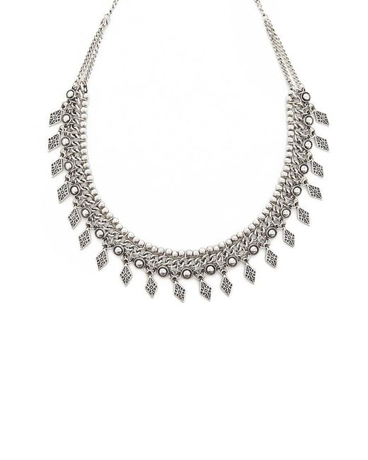 Forever 21 - Metallic Etched Burnished Necklace - Lyst
