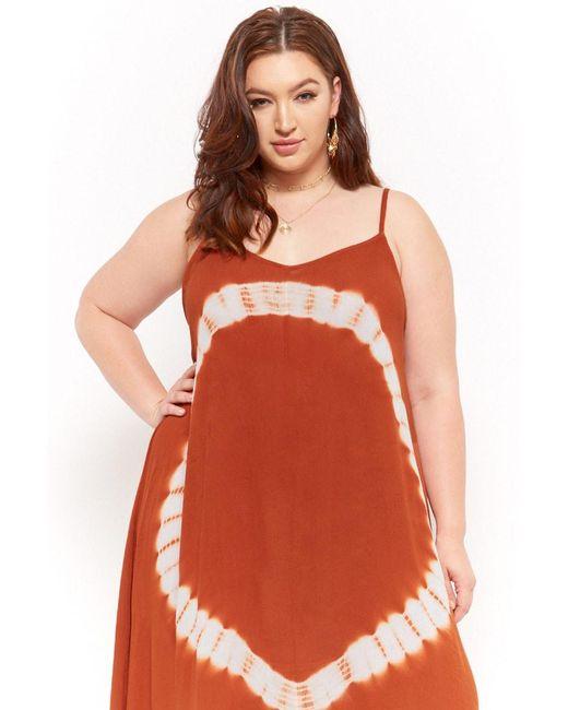 aec828bc9857 ... Forever 21 - Multicolor Women's Plus Size Tie-dye Maxi Dress - Lyst