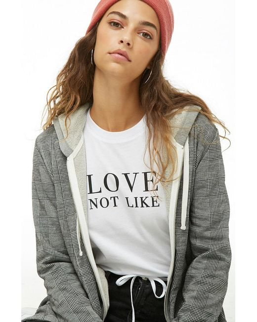 Forever 21 - White Love Not Like Graphic Tee - Lyst