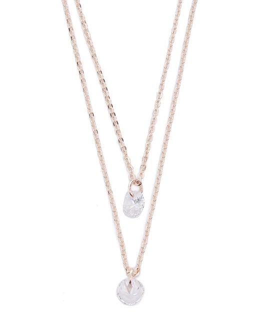 Forever 21 - Metallic Cz Stone Necklace Set - Lyst