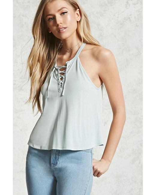 Forever 21 | Multicolor Lace-up Cami | Lyst