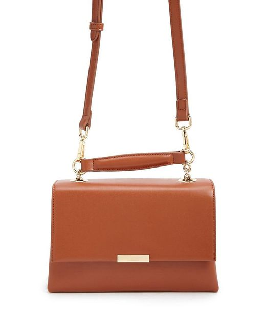 Forever 21 - Brown Faux Leather Satchel - Lyst