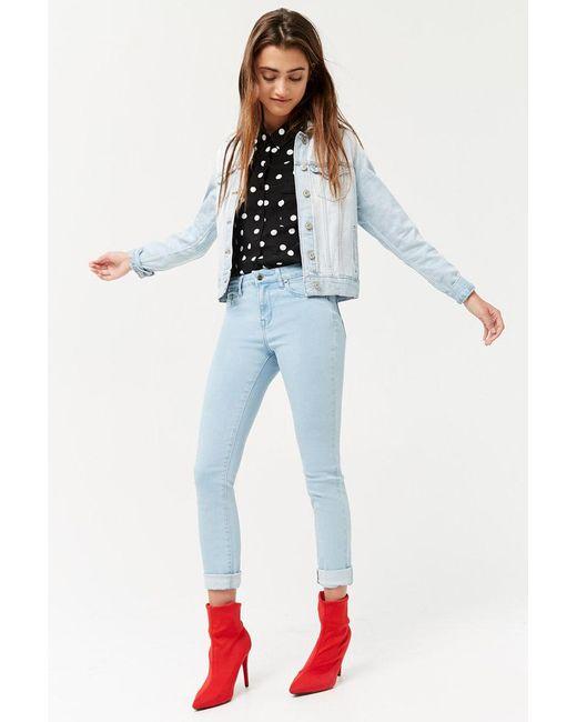 Forever 21 - Blue Women's Mid-rise Skinny Jeans - Lyst