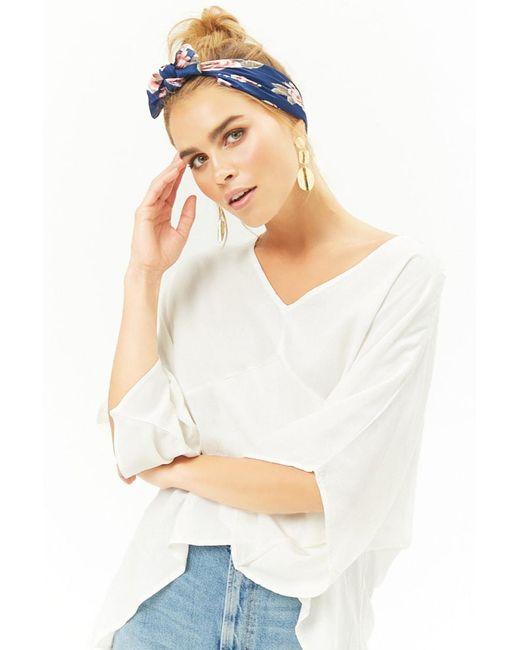 Forever 21 - White Handkerchief-hem Dolman Top - Lyst