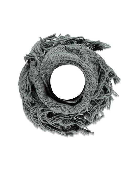 Forever 21 - Gray Fringe Marled Triangle Scarf - Lyst