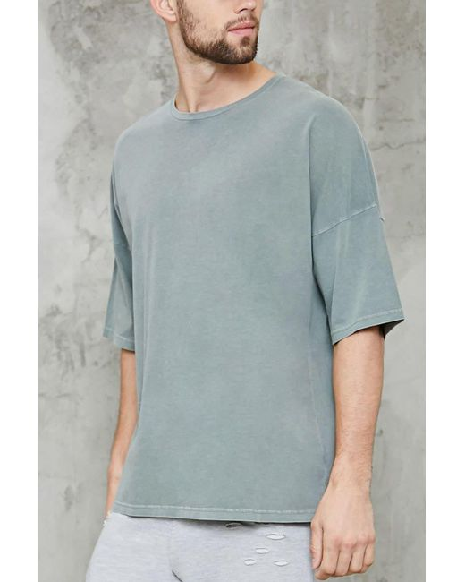 Forever 21 | Gray Faded High-low Tee for Men | Lyst