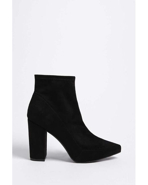 Forever 21 - Black Faux Suede Ankle Sock Boots - Lyst