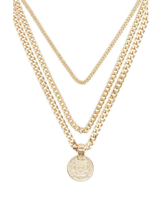 Forever 21 - Metallic Layered Curb Chain Necklace - Lyst