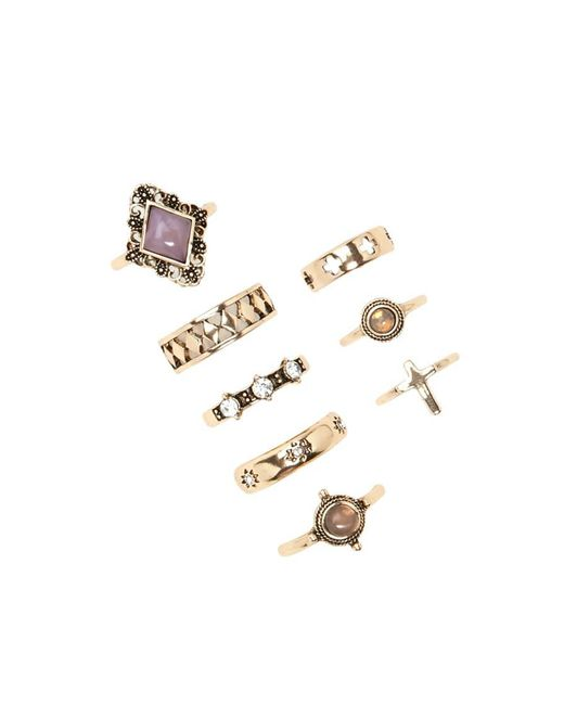 Forever 21 | Metallic Etched Cross Ring Set | Lyst