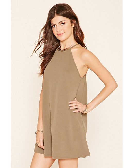 Forever 21 | Green A-line Mini Dress | Lyst