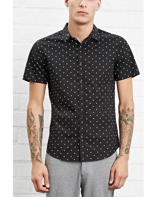 Forever 21 | Black Star Print Pocket Shirt for Men | Lyst