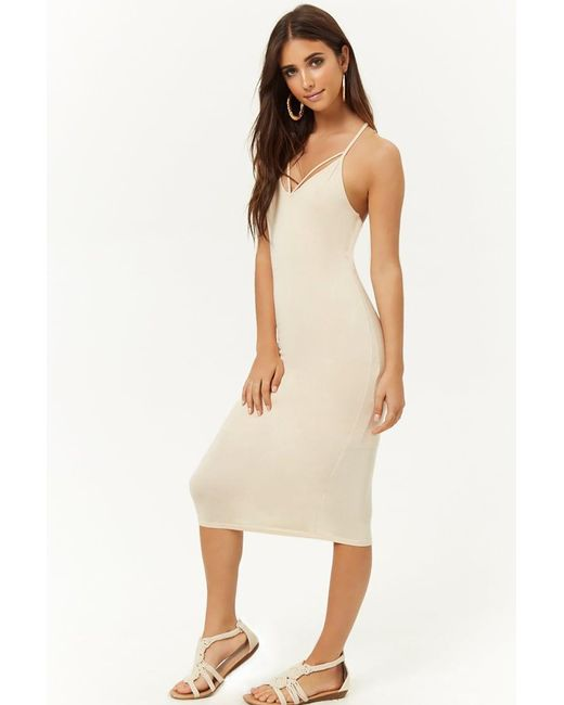 Forever 21 - Natural Strappy Midi Dress - Lyst