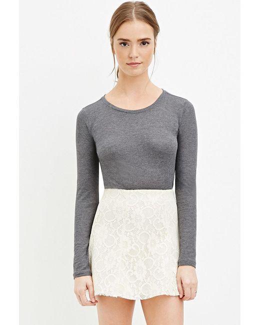 Forever 21 - White Floral Lace Skater Skirt - Lyst