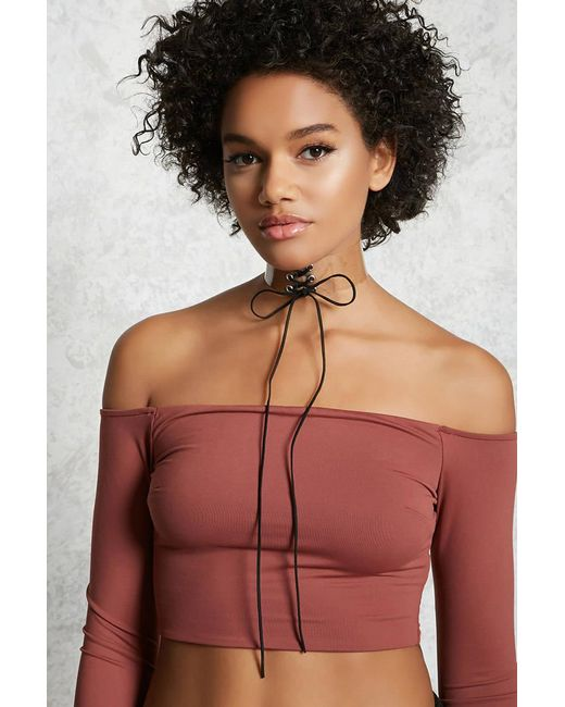 Forever 21 - Multicolor Lace-up Clear Choker - Lyst