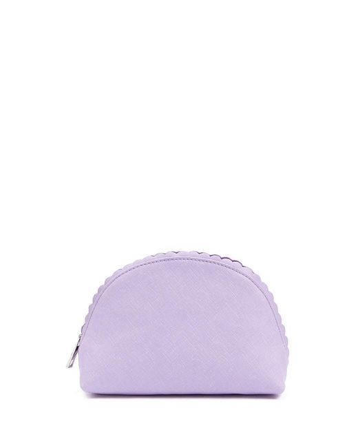 Forever 21 - Purple Textured Faux Leather Makeup Bag - Lyst
