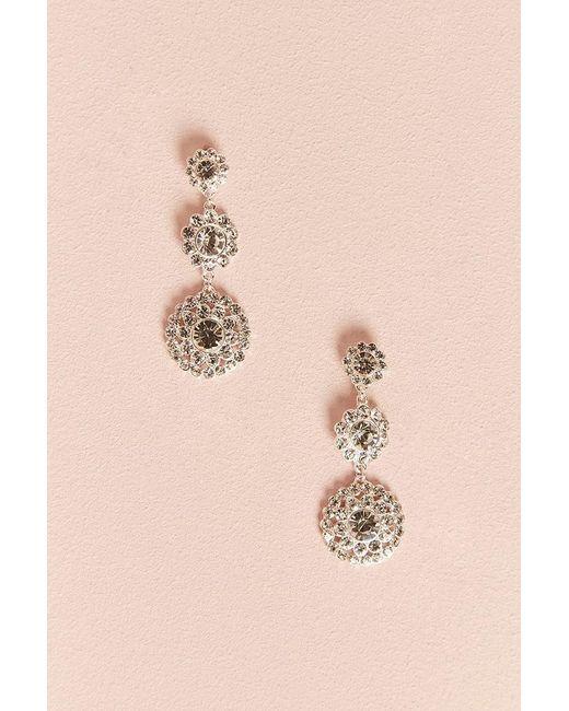 Forever 21 Multicolor Faux Jewel Drop Earrings Lyst
