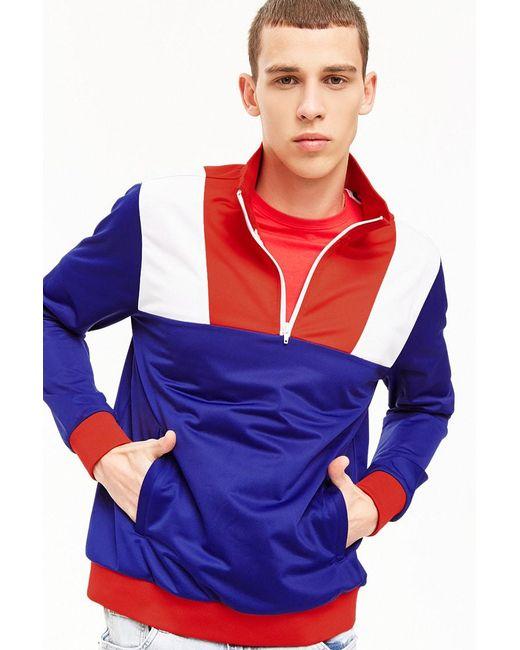 Forever 21 - Blue Colorblocked Track Jacket for Men - Lyst