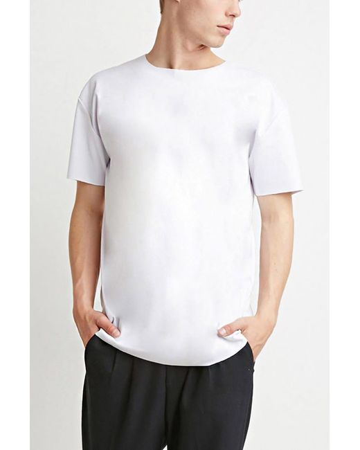 Forever 21   White Raw-cut Tee   Lyst