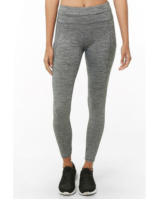 ef692f8db573a Forever 21 - Gray Active Mesh-pocket Leggings - Lyst ...