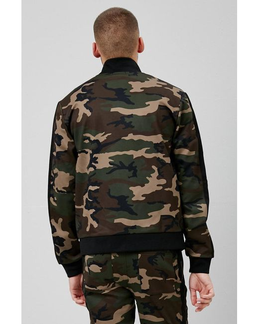 3c29db03d5b44 ... Lyst Forever 21 - Black 's Camo Print Track Jacket for Men ...