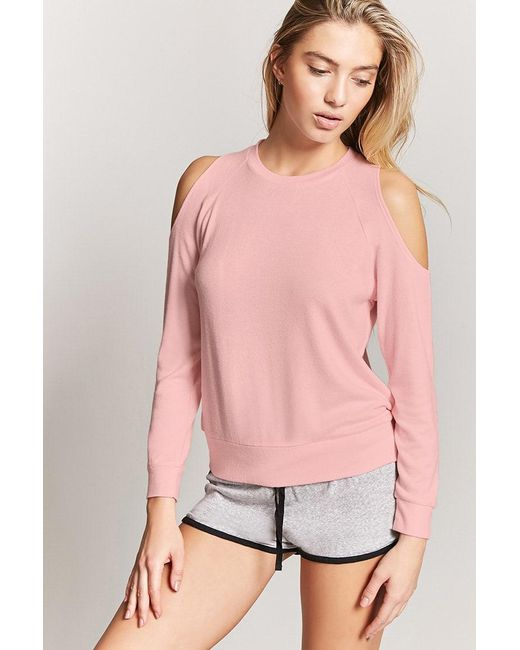 Forever 21 - Pink Open-shoulder Pyjama Top - Lyst