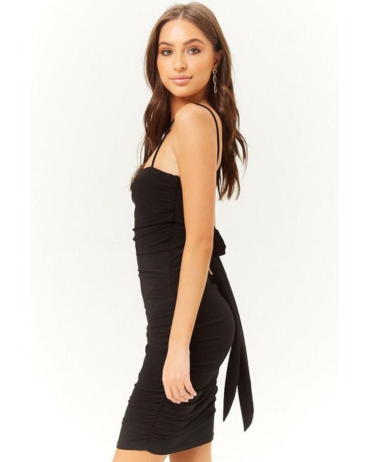 739548399a5 ... Forever 21 - Black Ruched Cami Mini Dress - Lyst
