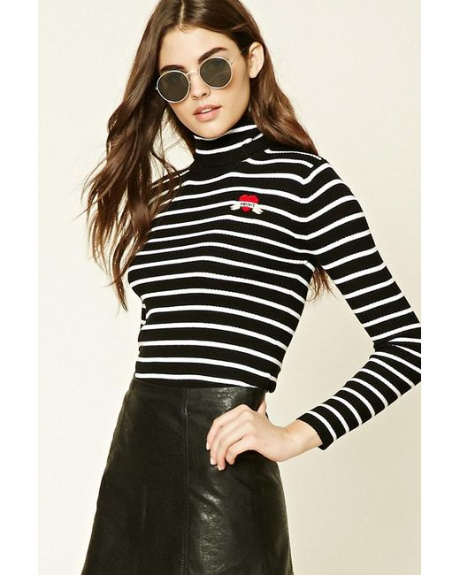 Forever 21 | Multicolor Striped Amore Patch Jumper | Lyst