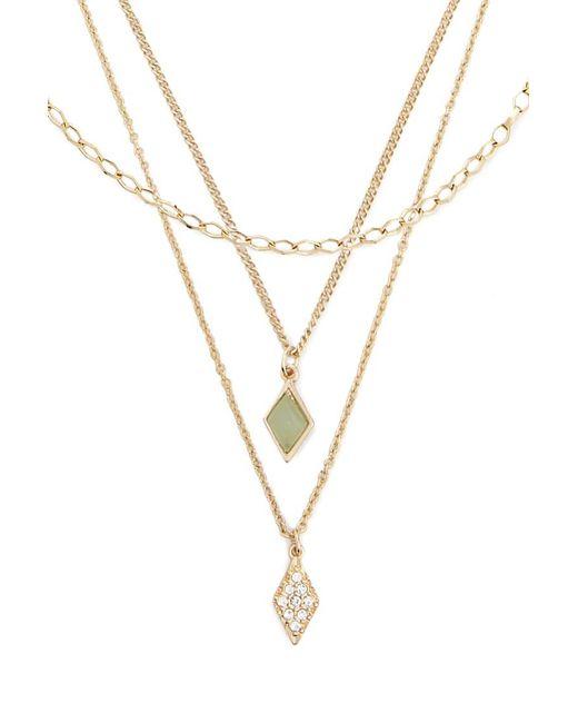 Forever 21 - Metallic Assorted Geo Pendant Necklace Set - Lyst