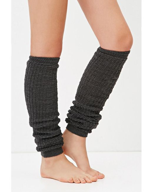 Forever 21 | Gray Waffle Knit Leg Warmers | Lyst