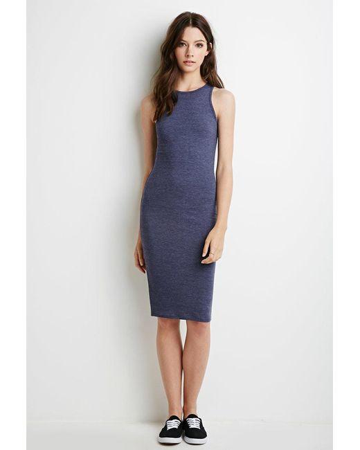 Forever 21 | Blue Heathered Midi Dress | Lyst