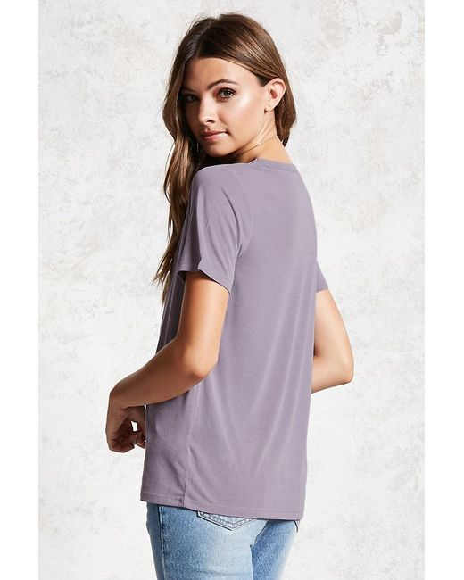 ... Forever 21 | Multicolor Keyhole Cutout Tee | Lyst ...