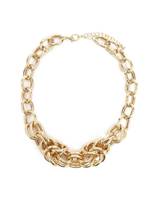 Forever 21 - Metallic Statement Chain Necklace - Lyst